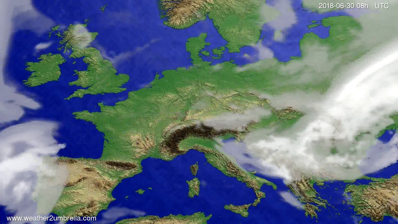 Cloud forecast Europe 2018-06-27