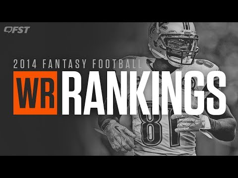 2014 Fantasy Football Wide Receiver (WR) Tiers and Rankings thumbnail