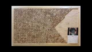 "Wine cork board construction in 2013.Size: 72"" x 40""Approximately 2300 wine corks."