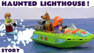Scooby Doo LEGO Stop Motion Toy Story with Minions and Thomas & Friends | Haunted Lighthouse