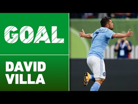 Video: David Villa volleys in sensational goal from Andrea Pirlo corner kick to help New York City win