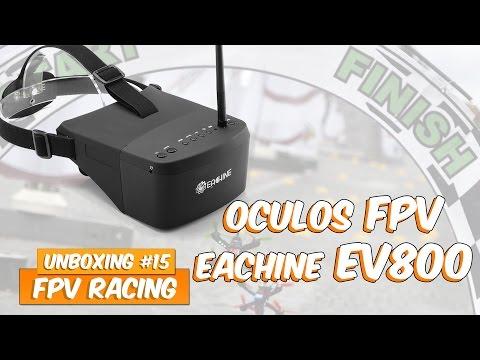 Unboxing #15 Óculos FPV Eachine EV800 v2 HD (Banggood)