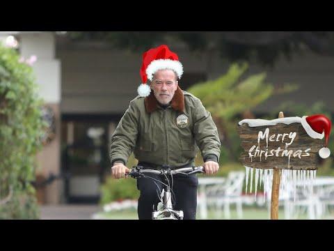 Arnold Schwarzenegger Takes A Lonely Solo Christmas Ride In Santa Monica