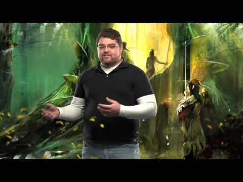 Guild Wars 2 Systems Designers Jon Peters and Isaiah Cartwright talk about the game's visceral, action-oriented combat. Attack on the move, dodge away from enemy blows, team up with other players for powerful combos, and unleash spectacular skills and spe