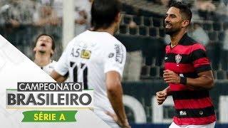Corinthians e Vitória fizeram um jogo movimentado em Itaquera, mas o atacante Tréllez aproveitou a oportunidade que teve...
