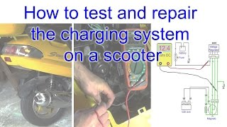 9. How to test and repair the charging system on a scooter