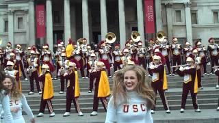 USC Trojan Marching Band Kids Aren't Alright Trafalgar Square London 2012