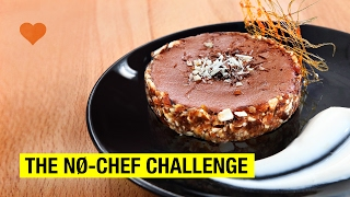 NO-CHEF Chocolate Mousse Tart, Caramel & Almond Cream ! It's all love by Alex French Guy Cooking