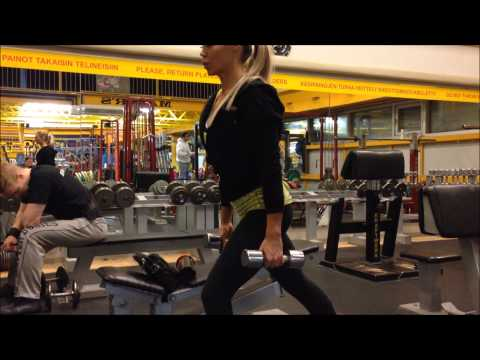 TEAM BIKINI HECTOR DEFEZ: Nina's training femoral Mayor's gym (Gold Gym)