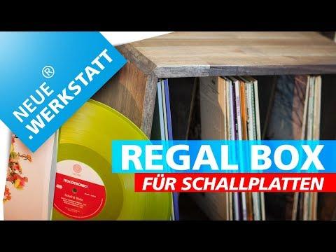 Vinyl Regal bauen + Holz beizen / Regal-Box für Schallplatten selber machen