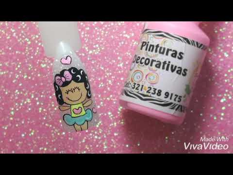 Videos de uñas - Muñequita Crespa - Video de uñas tutorial paso a paso