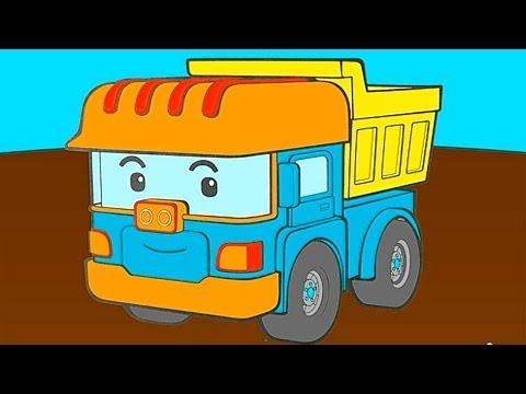 Раскраска из мультфильма робокар