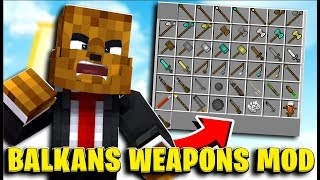4 Player *Medieval Balkans Weapon Mod* Minecraft Modded Money Wars - Minecraft Modded Minigame
