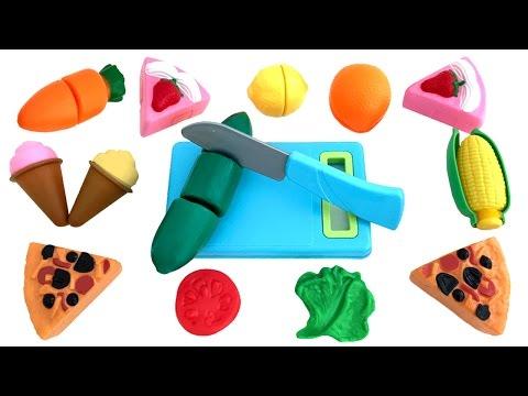 Toy Cutting Vegetables Velcro Cooking Playset Kitchen Spielzeug Schneiden von Gemüse Klett Toy Food