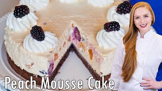 Blackberry Peach Champagne Mousse Cake by Tatyana's Everyday Food