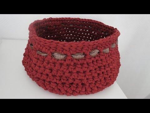 Korb häkeln * Anleitung mit Textilgarn