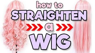 HOW TO STRAIGHTEN A WIG | Alexa's Wig Series #5