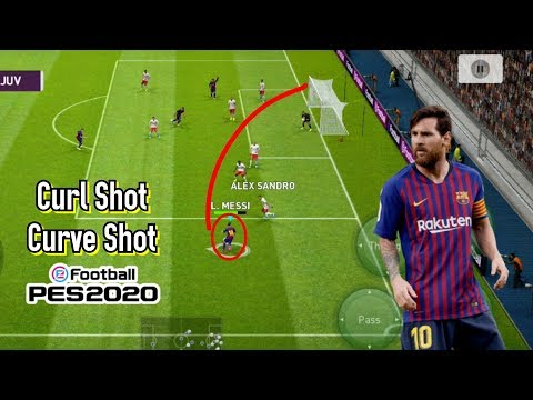 How to Take Curl/Curve Shot in Pes 20 Mobile | Super Effective