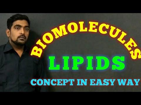 LIPIDS BIOCHEMISTRY / BIOMOLECULES