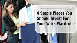 4 Staple Pieces You Should Invest For Your Work Wardrobe