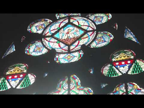 Notre Dame Cathedral Paris Beautiful Glass Window