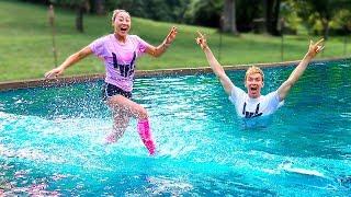 SHE RAN ON WATER!!