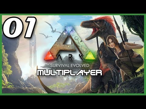 Let's Play ARK: Survival Evolved | Official PvP Multiplayer Server | PS4 Gameplay Part 1 (P+J)