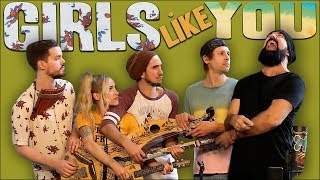 Video Girls Like You - Walk off the Earth (Maroon 5 Cover) MP3, 3GP, MP4, WEBM, AVI, FLV Juli 2018