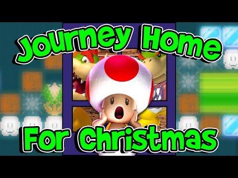 Journey Home for Christmas - Super Mario Maker Level Showcase (видео)