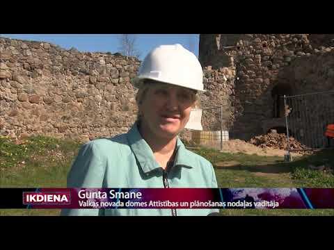 Uzsākti Ērģemes viduslaiku pils Ziemeļu torņa atjaunošanas darbi