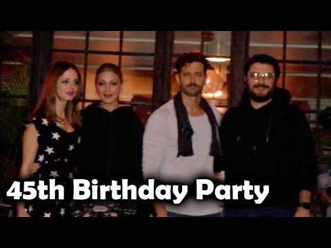 Ex Wife Suzanne, Sonali Bendre & Friends At #HrithikRoshan 45th BIRTHDAY Party