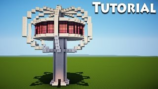 Minecraft: Modern Tree house Tutorial / How to Build a Cool House / Skyscraper /
