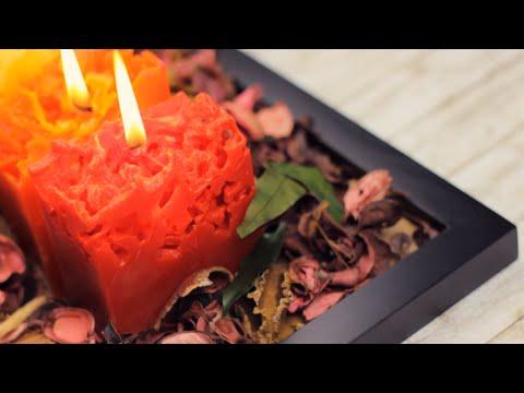 fantastiche candele effetto ghiaccio - fai da te