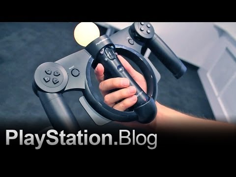 PlayStation Move Racing Wheel - Tech Demo Video Tour