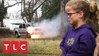¡Camioneta se incendia con mamá Johnston dentro!   Una gran familia   TLC Latinoamérica