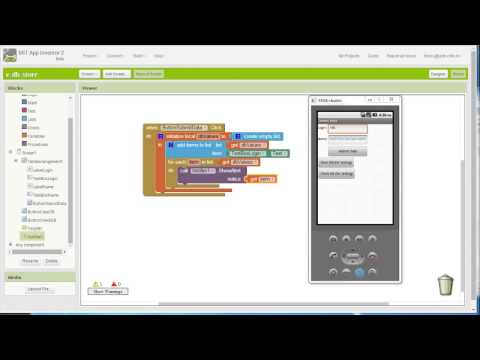 Appinventor 2 Using TinyDB Video 2