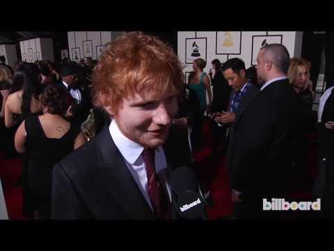 Ed Sheeran on the GRAMMYs Red Carpet 2014