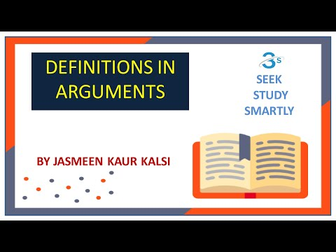 DEFINITIONS IN ARGUMENTS