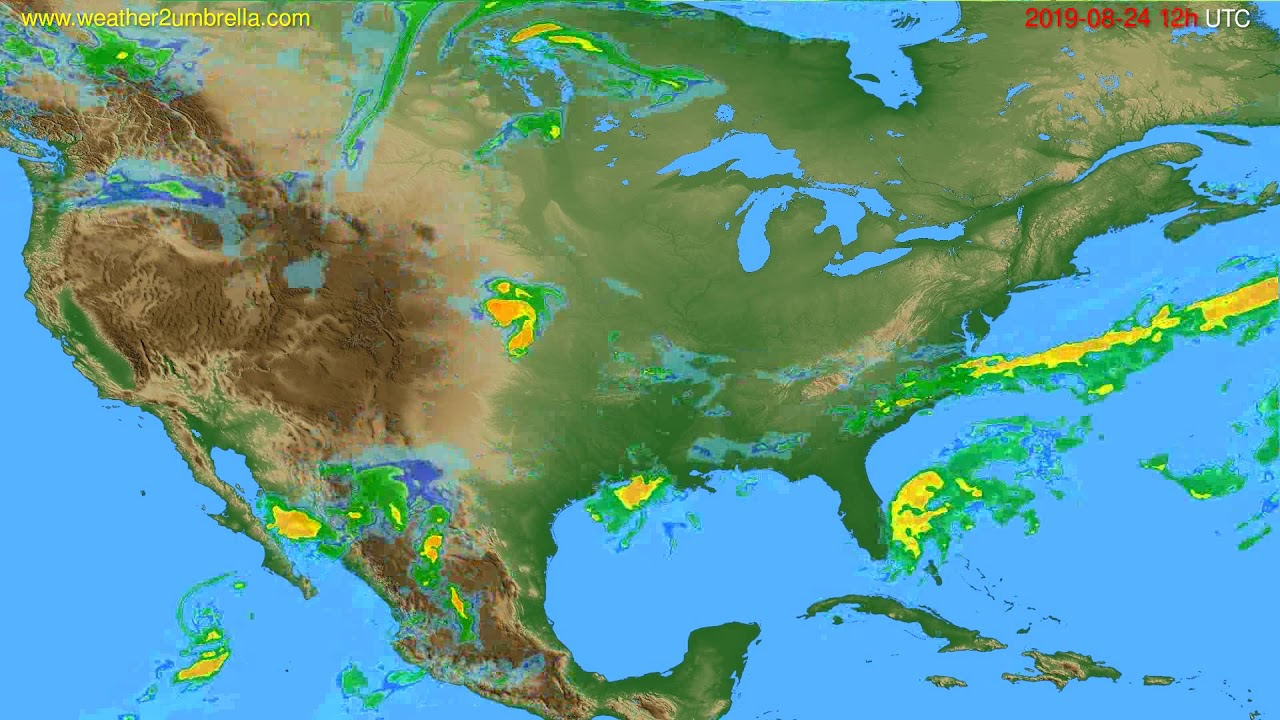 Radar forecast USA & Canada // modelrun: 00h UTC 2019-08-24