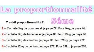 Maths 5ème - La proportionnalité Exercice 16