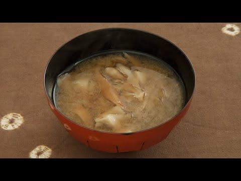 舞茸と板麩の味噌汁