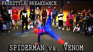 Video Real Life SPIDER-MAN vs. VENOM :: INSANE Freestyle Breakdance Battle!! [Retrocon 2016] - Sevenblade MP3, 3GP, MP4, WEBM, AVI, FLV Mei 2018