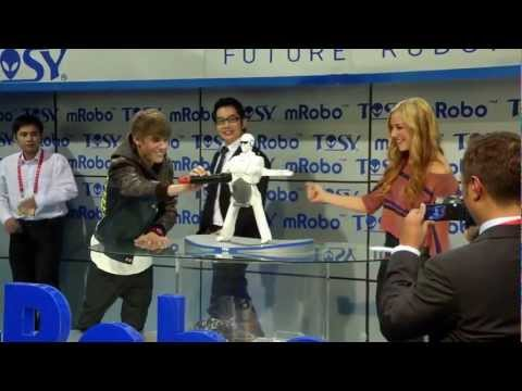 CES 2012 - TOSY mRobo-Transforming Music,a highly advanced and innovative robot from Viet Nam was unveiled by Pop sensation Justin Bieber @ CES 2012. TOSY Robotics JSC ...
