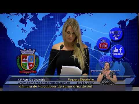 43ª Reunião Ordinária - 11/12/2017