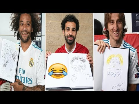 REAL MADRID AND LIVERPOOL PLAYERS DRAW THEMSELVES BEFORE CHAMPIONS LEAGUE FINAL IN KIEV