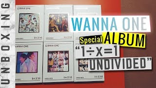 [Unboxing] WANNA ONE 'Undivided' (All 6 Versions) 1÷x=1 Special Album