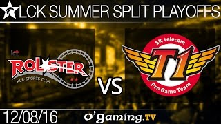 SKT vs KT Rolster - LCK Summer Split 2016 - Playoffs R2
