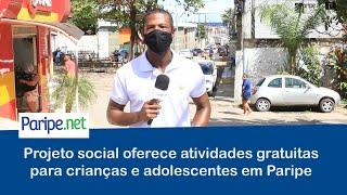 Projeto social oferece atividades gratuitas para crianças e adolescentes em Paripe