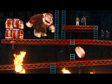 Pixels Clip 'Donkey Kong Attacks'