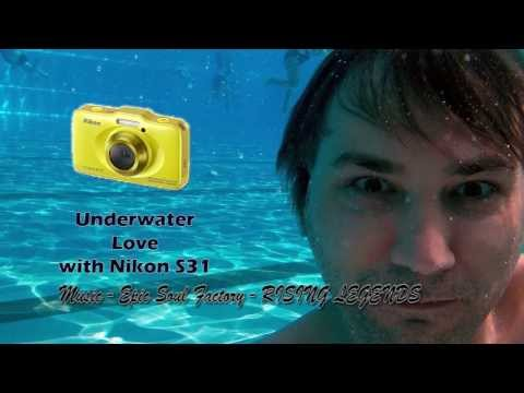 Nikon S31 Underwater Test with 3 different types of water (green, clear, pool)